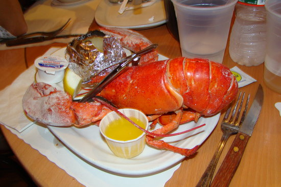 Mount Arlington, NJ: regular lobster dinner