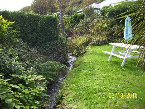 The Driftwood Spars B & B: Garden and Stream!