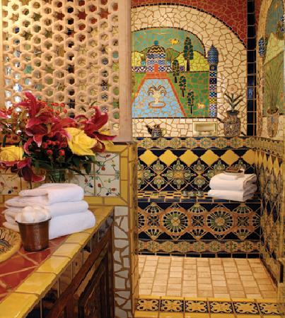 Inn of the Five Graces: Grand Artisan Tile Bathroom