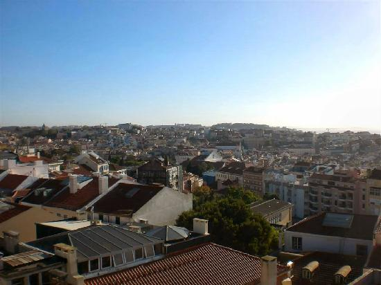 The House: The view from the terrace, looking over central Lisbon