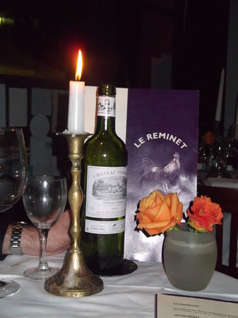 Le Reminet: Excellent bottle of wine