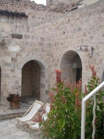 Argos in Cappadocia: terrace of room