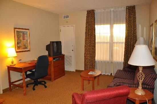 Homewood Suites Harrisburg East-Hershey Area: Living room in my 1-bedroom suite