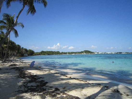 Hotel Amaudo: plage qui borde le club Med