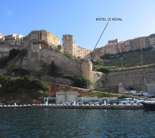 Hotel Le Royal: Old town from the sea