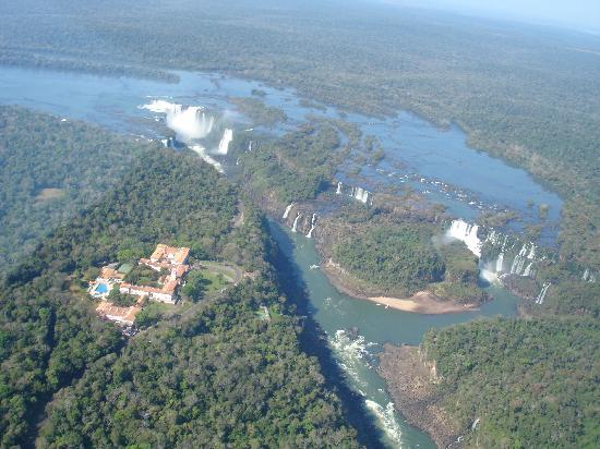 Belmond Hotel das Cataratas: Photo from our helicopter trip where you can see the hotel
