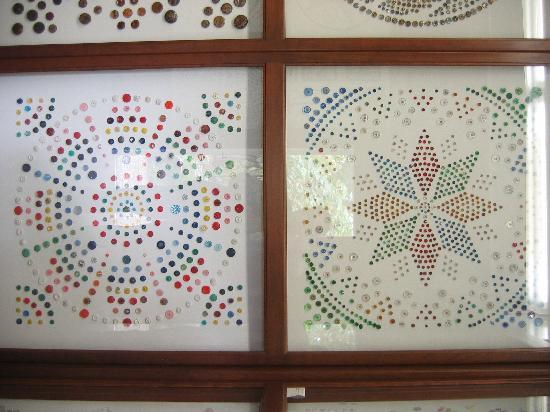 Zanesville, OH: A small segment of the Button Collection on display at the Warther Museum