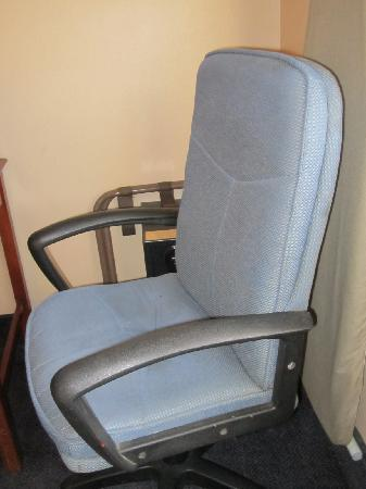 Days Inn Keene NH: desk chair-filthy