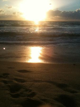 Palm Beach Oceanfront Inn: sunrise again