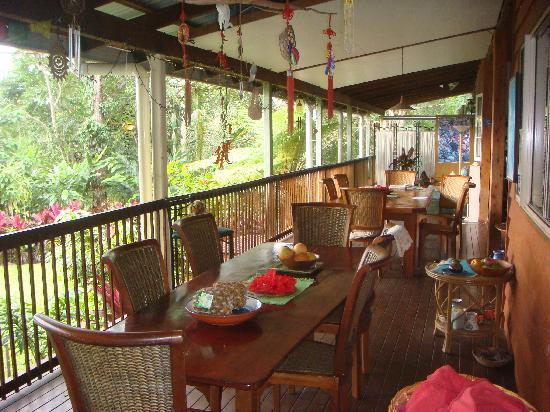 The Epiphyte Bed and Breakfast: general view of breakfast area