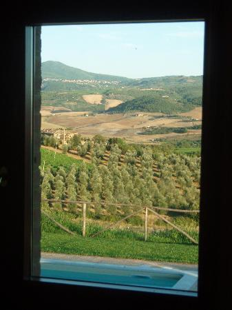 Agriturismo Il Poggione: View from the bedroom window