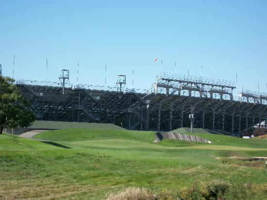 Brickyard Crossing Golf Course: Outside the speedway, Turn three