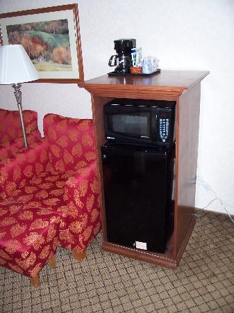 Holiday Inn Express Flint: Fridge and Easy Chairs