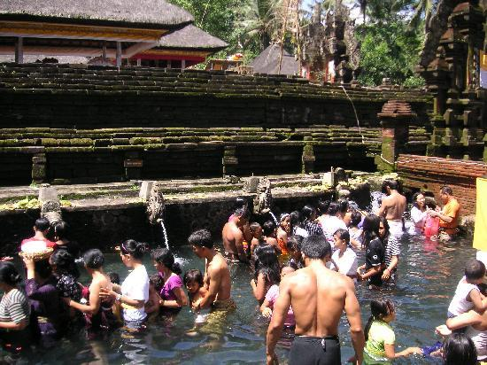 Tampaksiring, อินโดนีเซีย: 沐浴する人々①