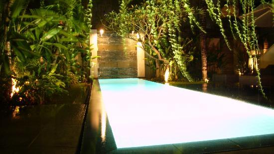 Bali Island Villas & Spa: Pool view at night