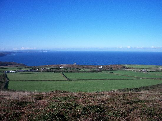 St Agnes, UK: View from the top of the hill