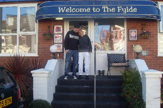 The Fylde International Blackpool: me and my partner outside the hotel