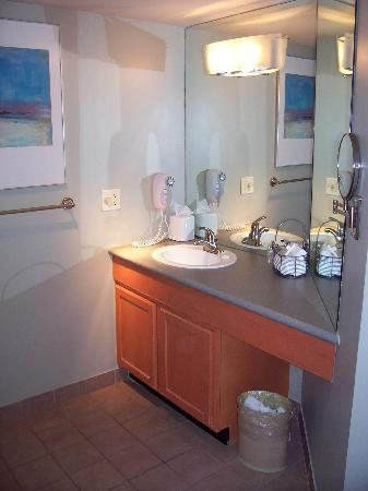 Hawthorn Suites by Wyndham Overland Park: Spacious, well-designed bathroom
