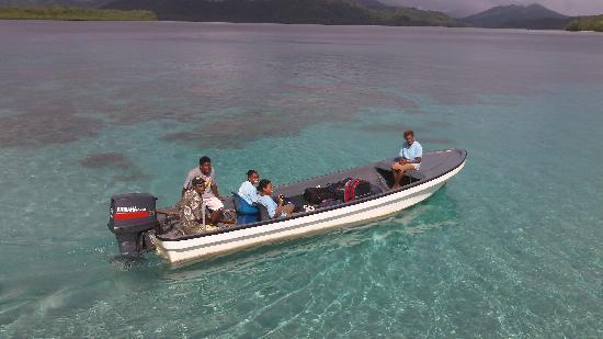 Tavanipupu Island Resort: this is how the luggage travels