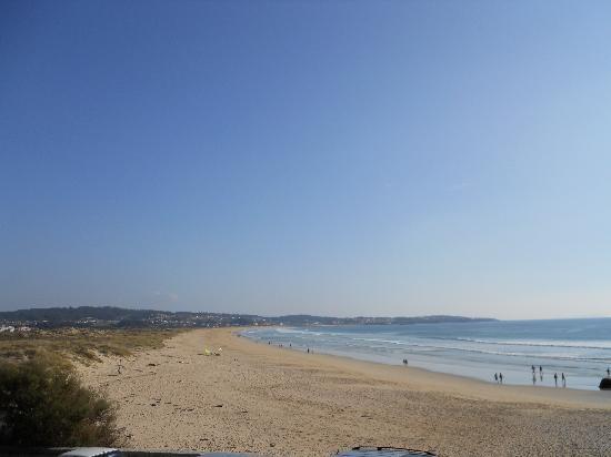 Vista desde el hotel a la playa A Lanzada
