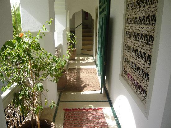 Riad Vert Marrakech: couloir de l'étage