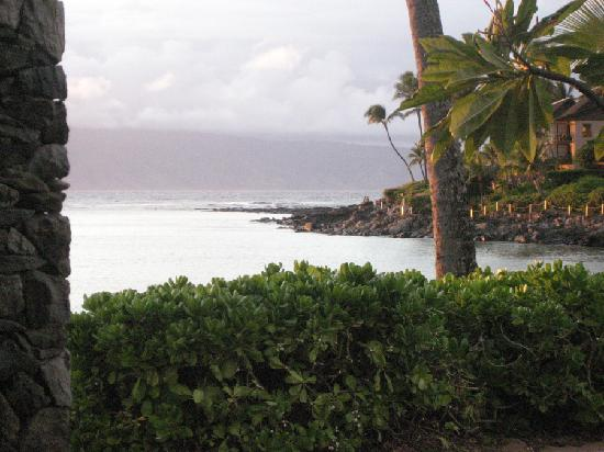 The Mauian Hotel on Napili Beach: view from room