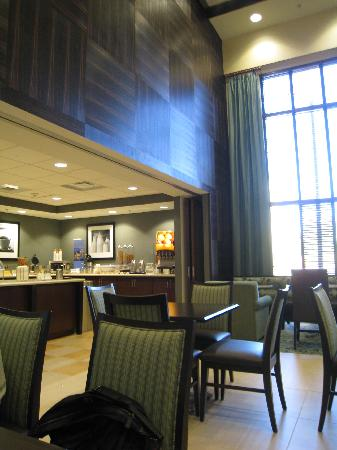 Hampton Inn & Suites Mahwah: View of breakfast area- yummy :p