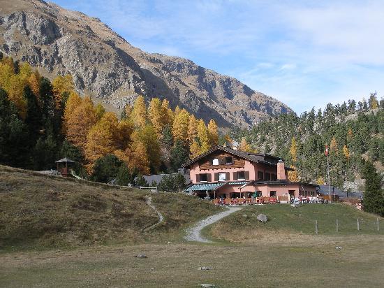 Pontresina, Sveits: Hotelansicht von Süden