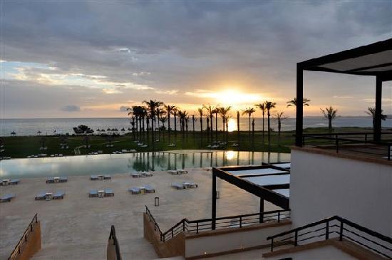 Verdura Resort : View from the main veranda at sunset