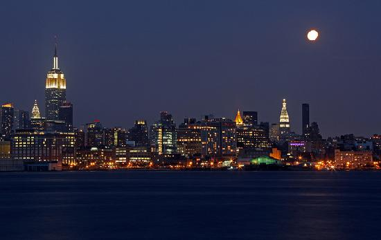 nyc viewed from hoboken nj   picture of manhattan