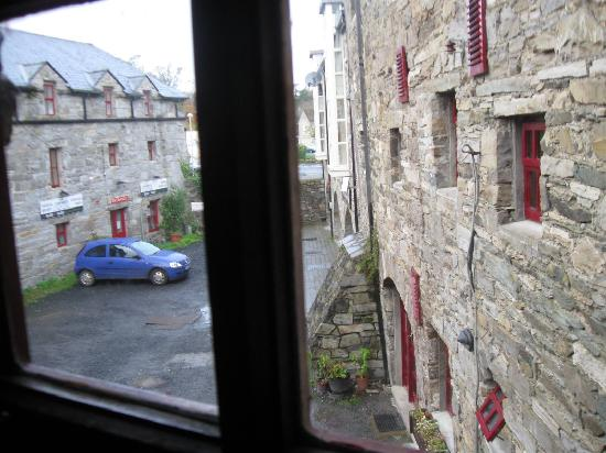 Old Mill Holiday Hostel: view out the bedroom window. Very cool building