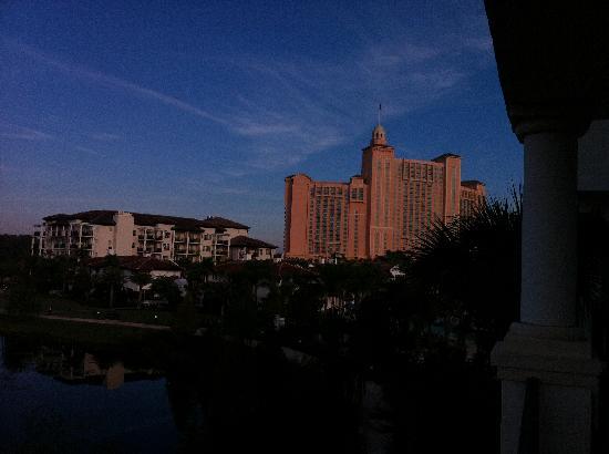 Marriott's Lakeshore Reserve: View of the JW Marriott & 2 of the Lakeshore Reserve Bldngs from our 3rd floor Balcony