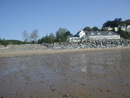 Wiseman's Bridge Inn: view of wisemans from the beach