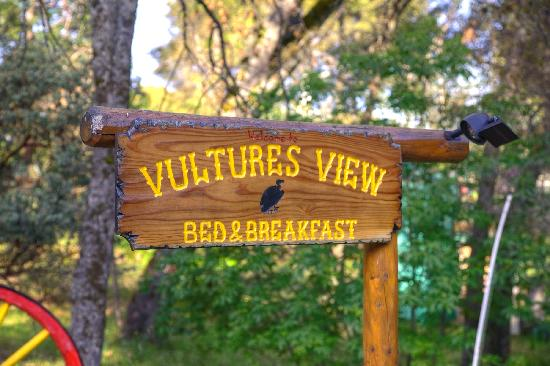 Vulture's View Bed and Breakfast: Vultures View Sign