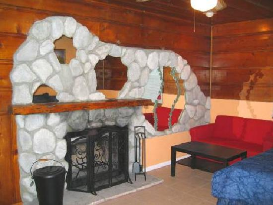 Lakewood Cabins at Big Bear Lake: Fireplace