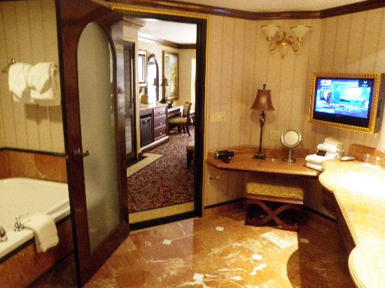 The Bathroom With Tv And All Picture Of Peppermill