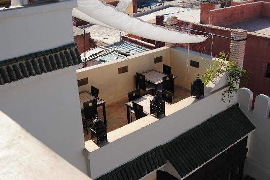 Riad Kheirredine: terrazza_colazione_cena