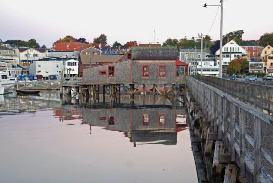 Boothbay Harbor, ME: The walking brifdge into the village