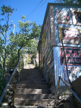 The Sleepy Dog Guest House: Historic Bisbee steps - but not too many