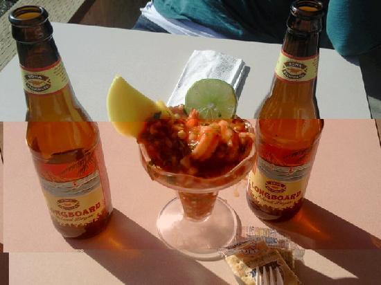 the shrimp boat deli: Shrimp Cocktail and Longboard