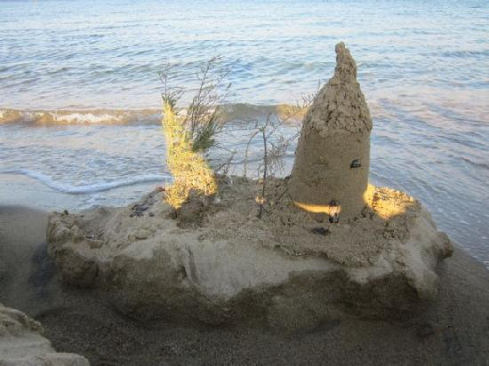 Panormos, Hellas: A sand castle