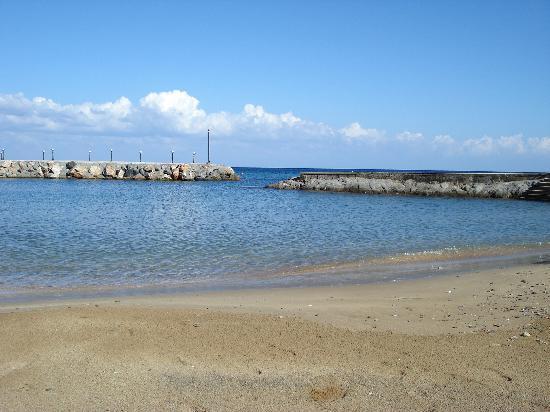 Ada Beach Hotel: View of private beach