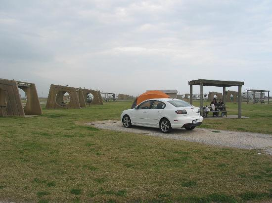 Camping Beach Side Picture Of Galveston Island State