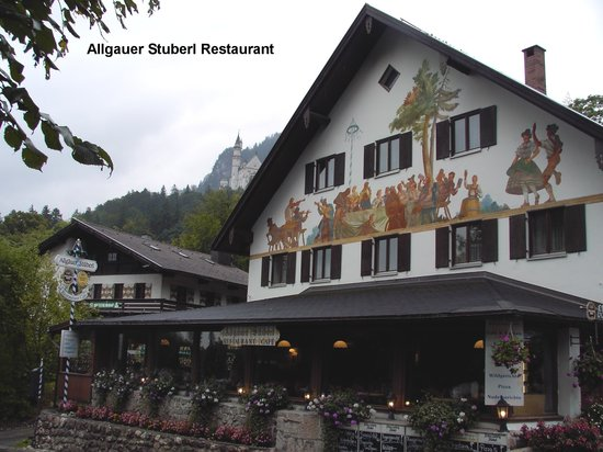 Allgauer Stuberl : Restaurant front with castle in background