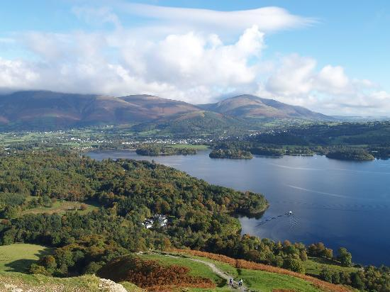 LakeSide House: view from walking up High spy lake derwent water.
