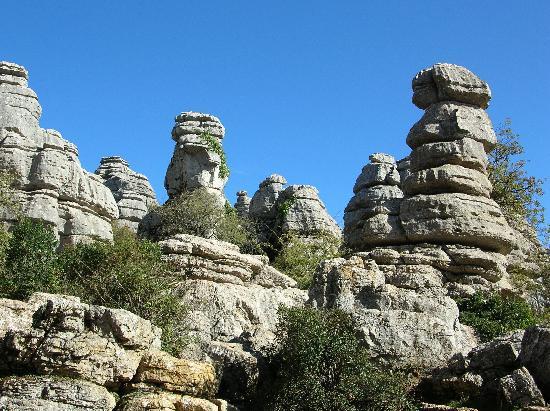 Gesteinsformationen im Nationalpark El Torcal de Antequera
