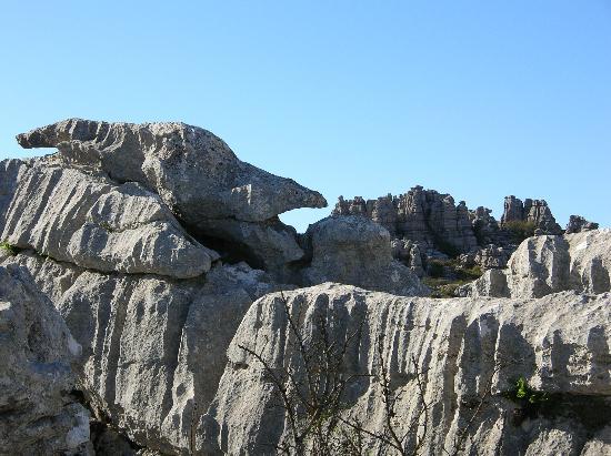Антекера, Испания: Gesteinsformation im Nationalpark El Torcal de Antequera