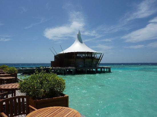 Baros Maldives: Lighthouse restaurant & lounge at Baros