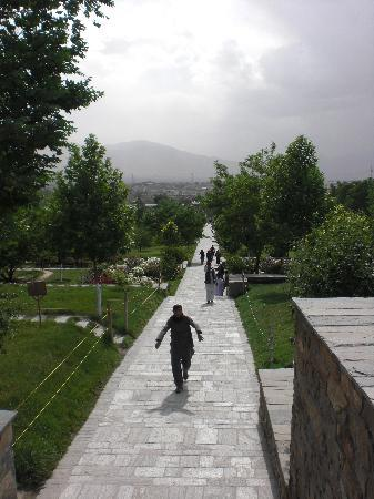 Kabul Province, Afghanistan: View across the gardens