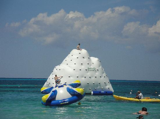 Fun water inflatables at Paradise Beach